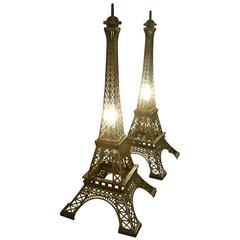 Table Lamp Eiffel Tour in Iron Bronzed Finish, 2016