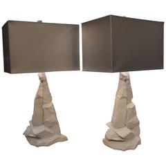 Pair of Sirmos Rock Lamps