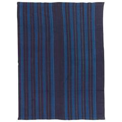 Vintage Indigo Dyed Cotton Textile by Yoruba Weaver from Nigeria