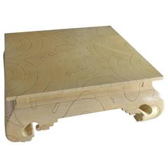 Michael Taylor Faux Wood Grain Painted Coffee Table