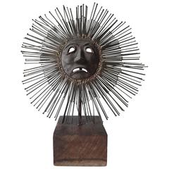 Sun Face Sculpture by Luciano