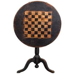 Table Tilt-Top Chess Swedish 19th Century Sweden