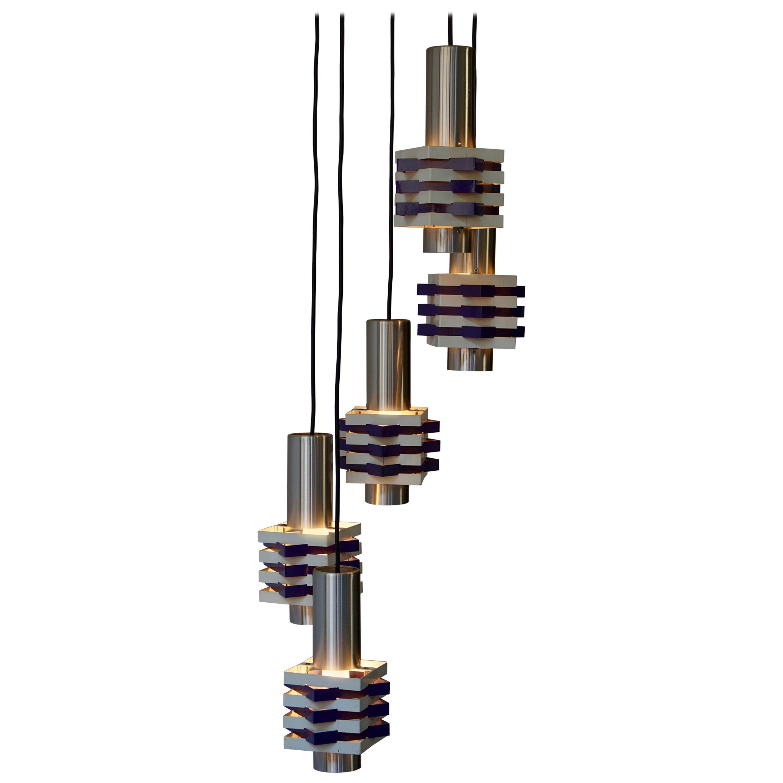 Mid-Century Modern Adjustable Light Fixture or Chandelier
