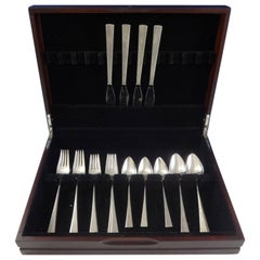 Da Vinci by Reed & Barton Sterling Silver Flatware Service Set 20 Pcs Modern