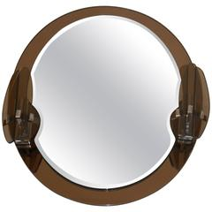 Oval Mirror with Two Lights by Lupi Cristal Luxor
