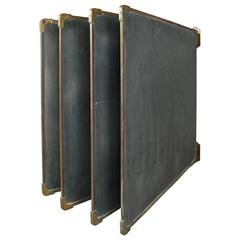 Set of Antique Slate and Bronze Chalkboards