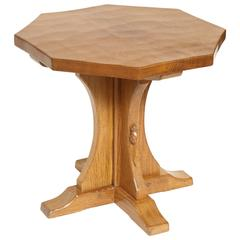 "Robert ""Mouseman"" Thompson Octagonal Table"