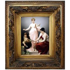 KPM Berlin Picture Plate the Three Fates by Paul Thumann, circa 1880
