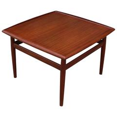 Danish Teak Square Side Table by Grete Jalk