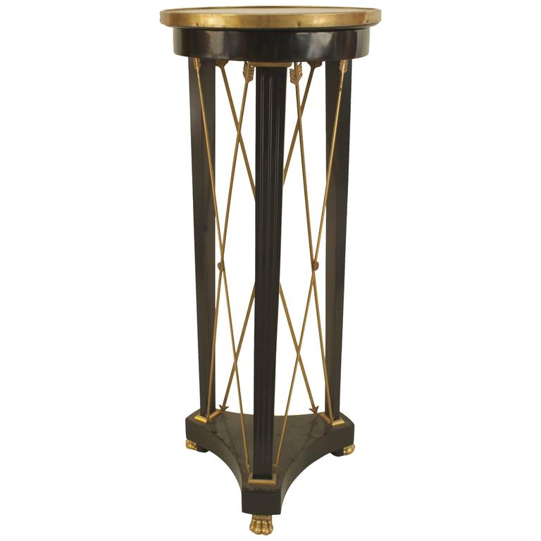 1940s French Louis XVI Bronze-Trimmed Pedestal, by Jansen For Sale