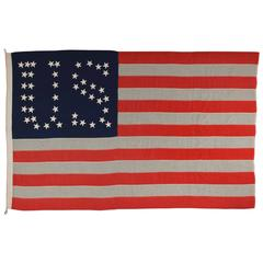 "44 Star Flag with Stars That Form the Letters ""U.S."""