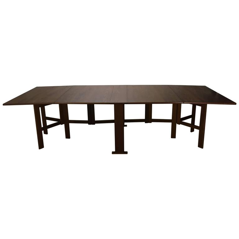 Large Bruno Mathsson Collapsible Banquet Dining Table For