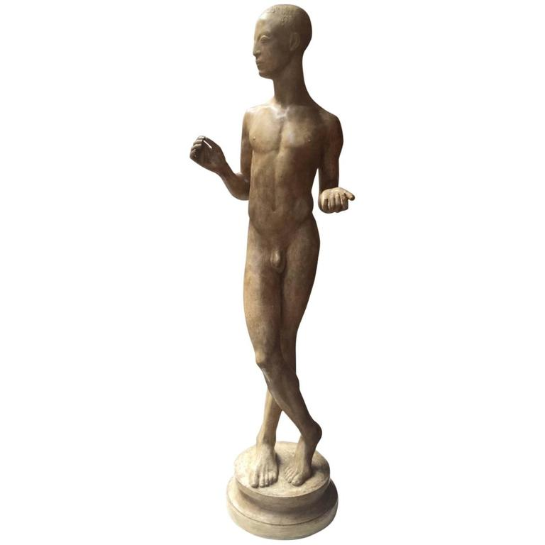 Abyssinian Sculpture by Johannes Bjerg, Denmark, ca. 1915 For Sale