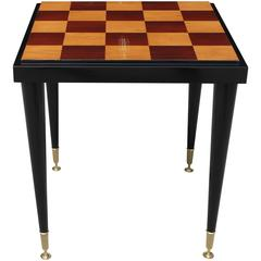 Stunning French Art Deco Ebony and Sycamore Center Table or Game Table .