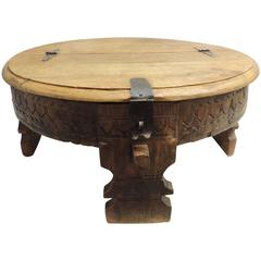 Moroccan Carved Round Coffee Table