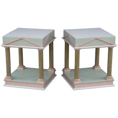 Pair of Neoclassical Inspired Post Modern Tables