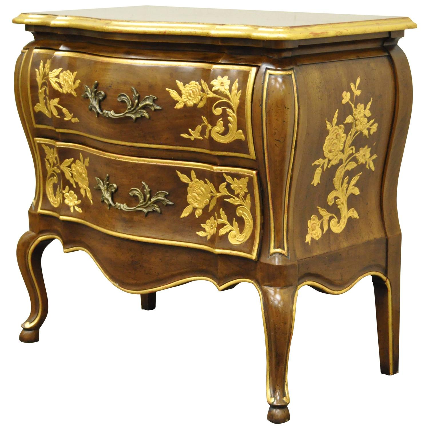 Simple john widdicomb bombe form gold gilt decorated - Commode style colonial ...