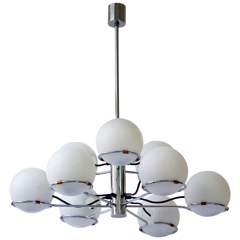 Murano Chandelier with Nine Glass Globes