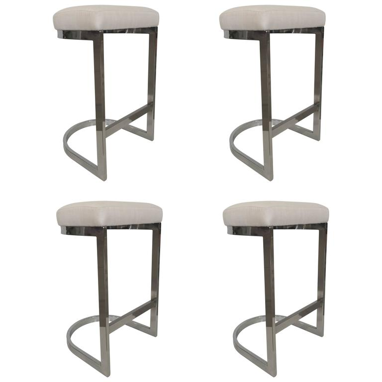 DIA Chrome Bar Stool For Sale