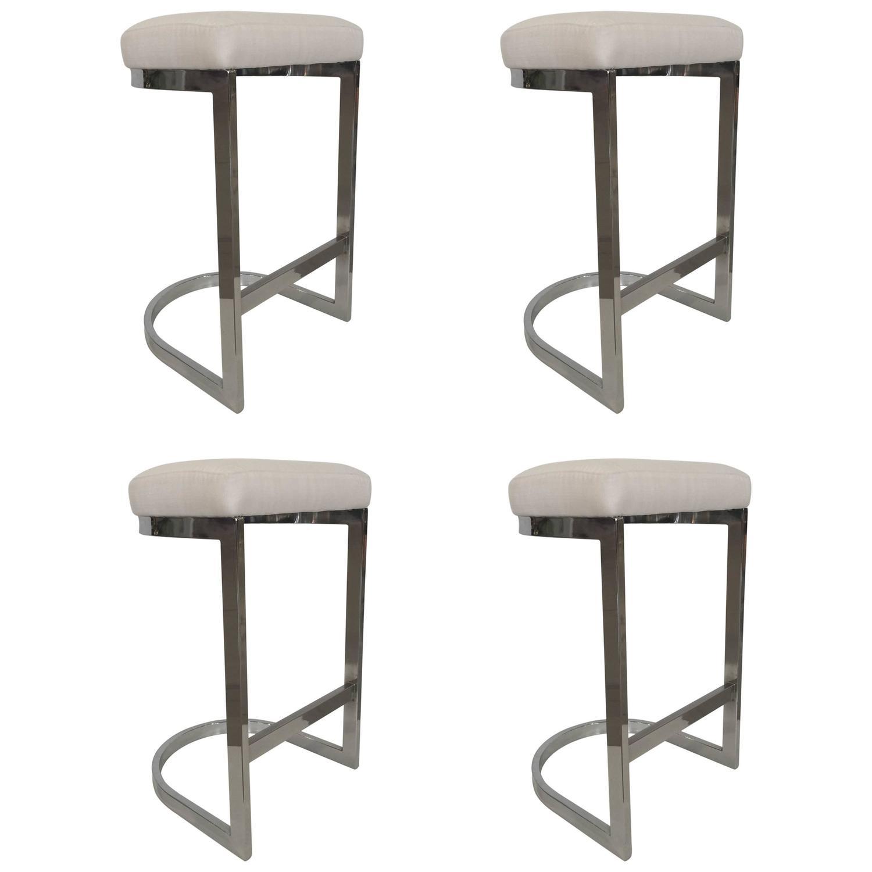 Dia chrome bar stool at stdibs