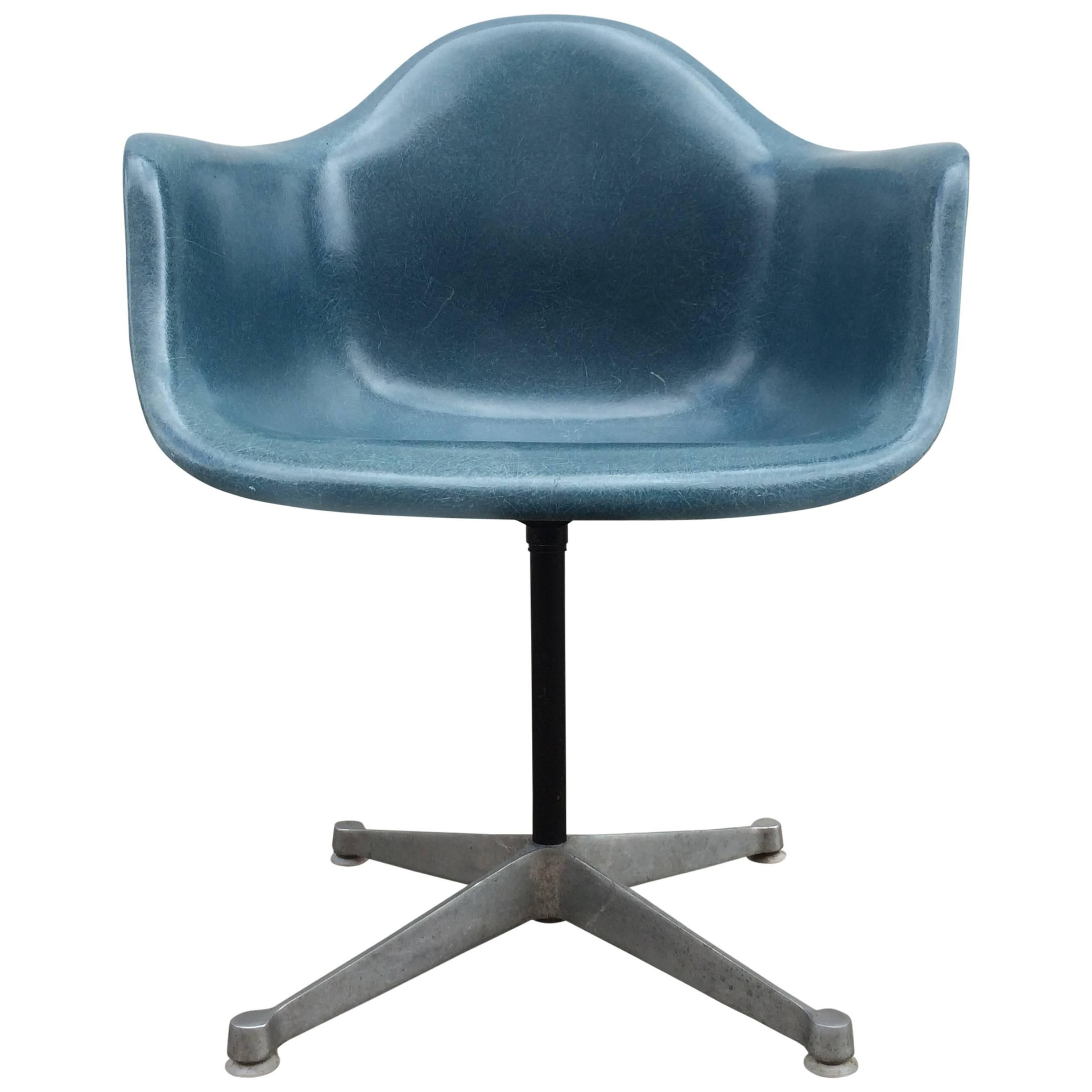 Rare Slate Blue Herman Miller Eames Chair For Sale at 1stdibs