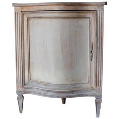20th Century Painted Swedish Corner Cabinet