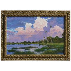 Painting of Myakka Lake Florida by Kent Sullivan