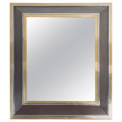 Metal and Brass Framed Mirror