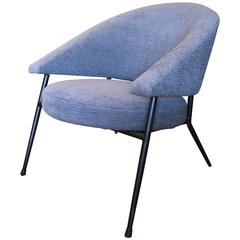 Modernist Armchair with Metal Frame