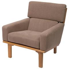 Upholstered Oak Lounge Chair