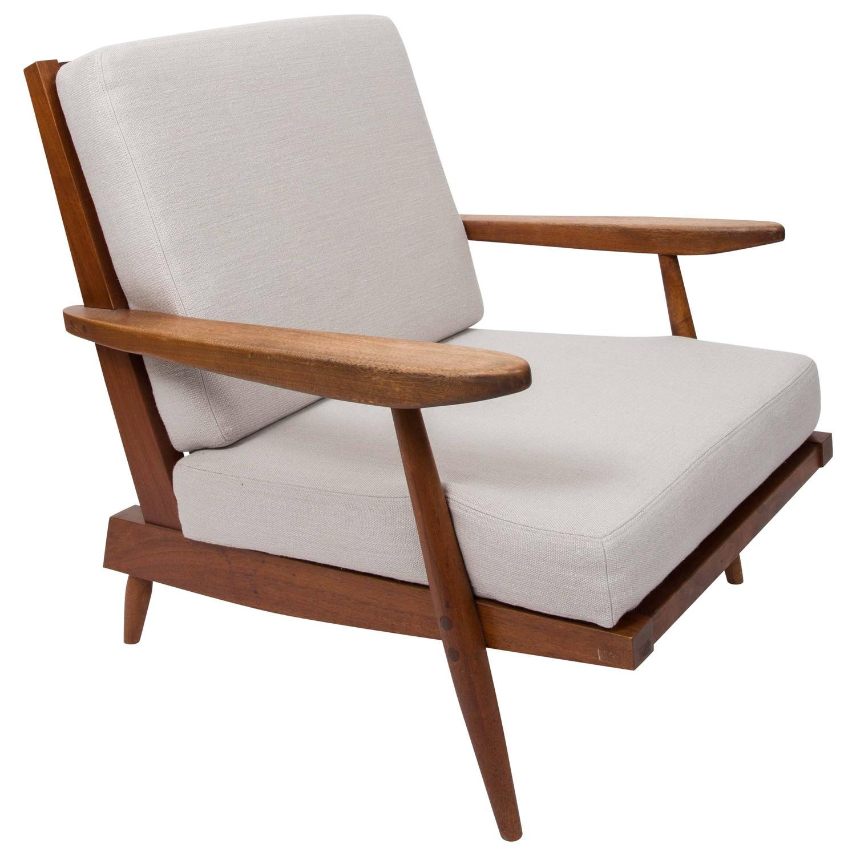 Teak Lounge Chair by George Nakashima at 1stdibs