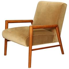 Mahogany Arm Chair by T.H. Robsjohn-Gibbings, circa 1950