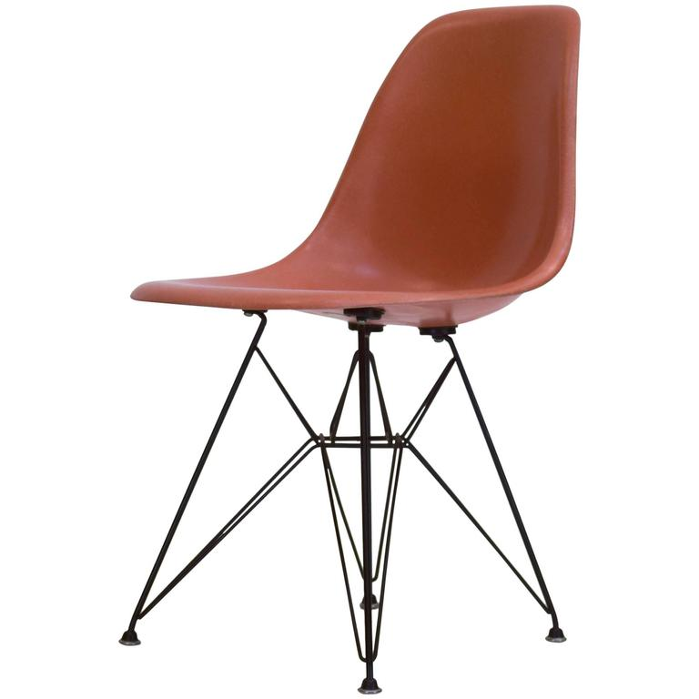 eames shell chair on original eiffel base 1950s for sale