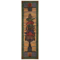 Framed Hand-Loomed Jute Weaving, circa 1970