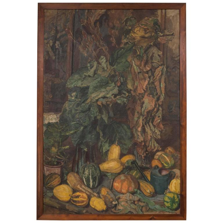 Magnificent Autumnal Still Life by Dutch Artist Barbara van Houten For Sale
