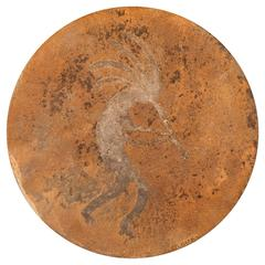 Steel Disc of a Mythic Desert Piper by Doug Lough