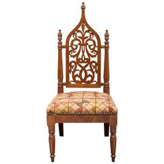 19th Century American Neo-Gothic Childs Chair, circa 1860