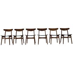 Carl Hansen CH 30 Dinner Chairs by Danish Designer Hans Wegner