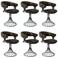 Six Vintage Swivel Chairs