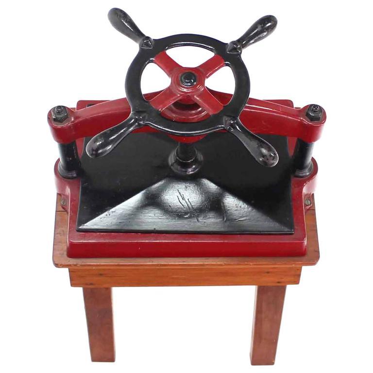 Heavy Antique Cast Iron Book Press