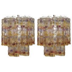 Pair of Unique Murano Chandeliers