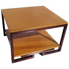 Paul Frankl Cork and Mahogany Corner Table for Johnson Furniture