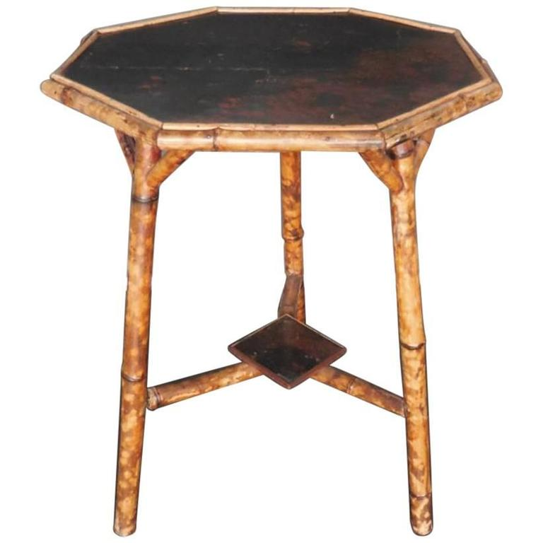 Early 20th Century Bamboo Chinoiserie Side Table
