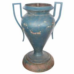 Large Art Deco American Cast Iron Urn
