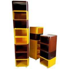 17 Piece Anna Castelli Ferrieri Set of Componibili Storage Units by Kartell