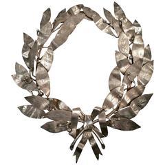 Neoclassical Silver Plated Laurel Wreath, circa 1904