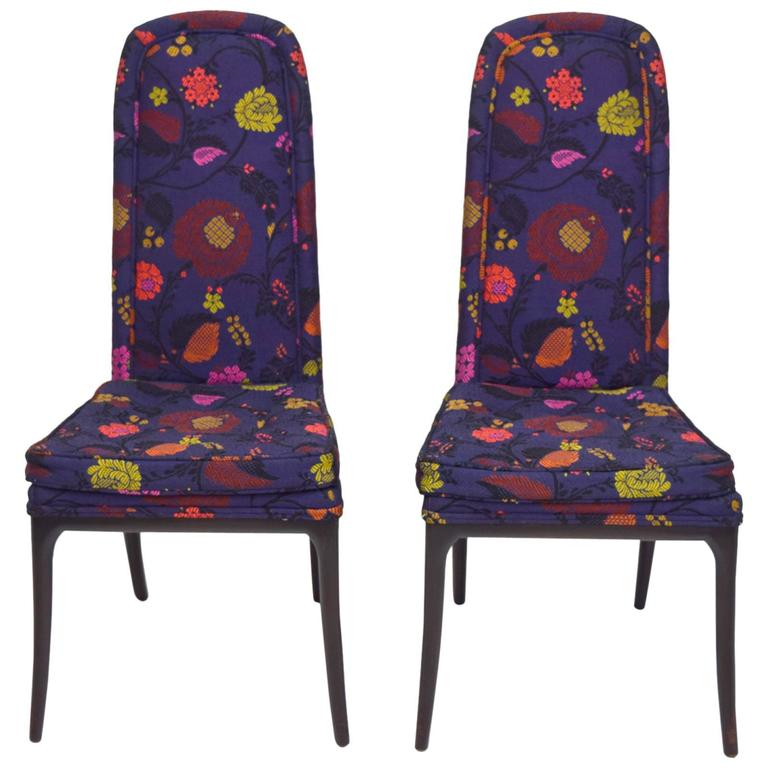 Erwin-Lambeth Tall Back Side Chairs, Pair 1