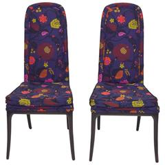 Erwin-Lambeth Tall Back Side Chairs, Pair