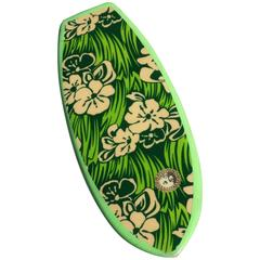 Vibrant Green Floral Dextra Bellyboard Surfboard, circa 1965