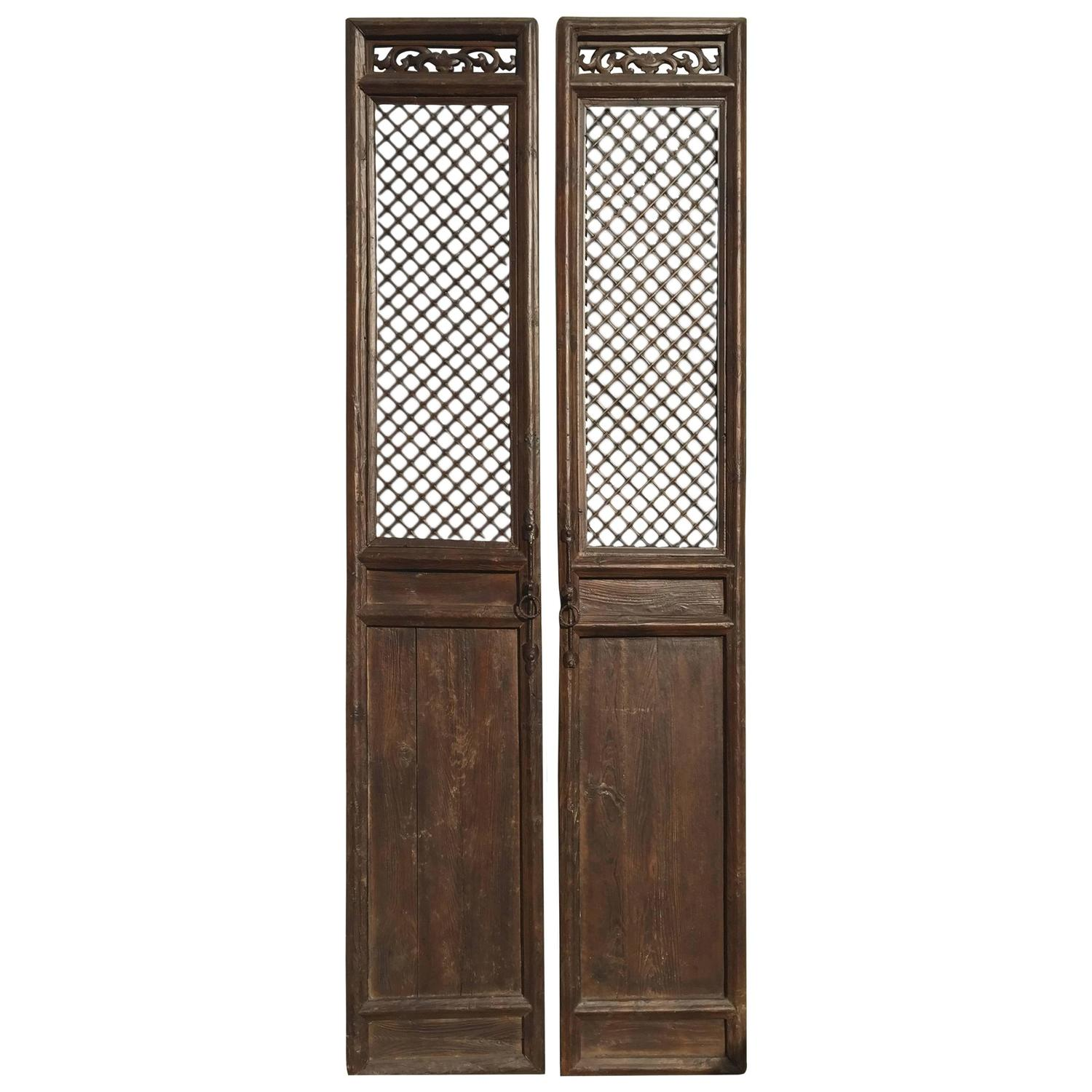 19th century chinese antique doors or screens for sale at On screen doors for sale